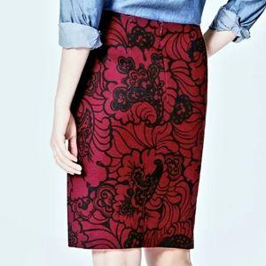 Ann Taylor LOFT Floral Paisley Pencil Skirt